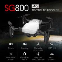 2019 SG800 Drone 2.4G FPV Mini Selfie RTF with Wifi Camera HD Micro Radio Control Quadcopter VS S9 S9W E58 E61 Dron ZLRC