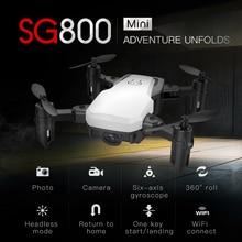 2019 SG800 Drone 2.4G FPV Mini Selfie Drone RTF with Wifi Camera HD Micro Radio Control Quadcopter VS S9 S9W E58 E61 Dron ZLRC