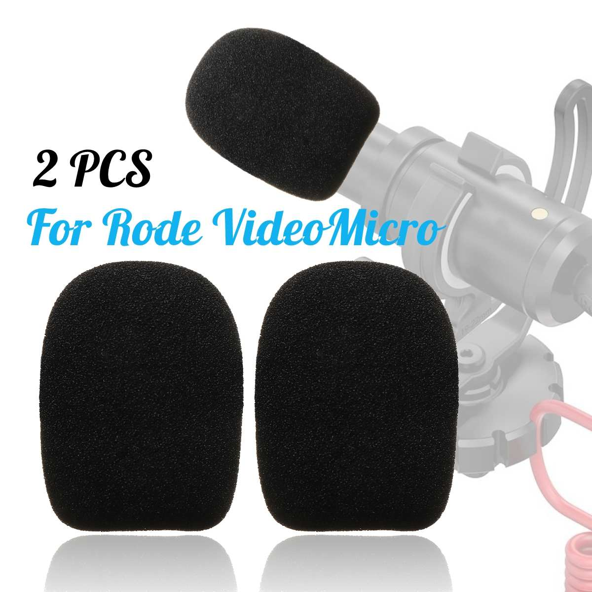 1 Paar Mikrofon Windschutzscheibe Schwamm Schaum Abdeckung Für Ritt Videomicro Audio Um Jeden Preis