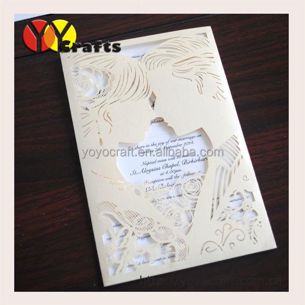Handmade Pocket Invitation Card Design Hard Cover Wedding