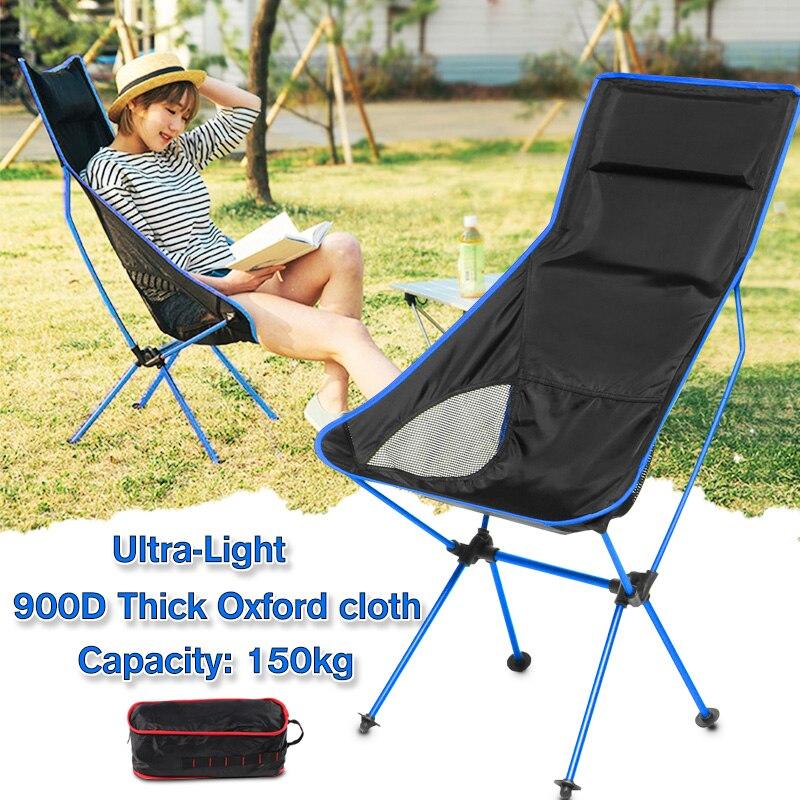Capacité 150 KG extérieur pliant Camping chaises en aluminium portable pliable pique-nique chaises plier pique-nique barbecue chaises de plage