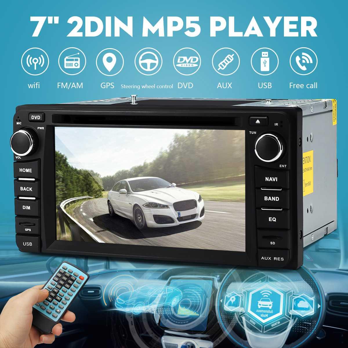 7 pouces 2 DIN 8G GPS carte bluetooth autoradio MP5 lecteur écran tactile WiFi FM DVD CD pour Toyota voiture lecteur multimédia
