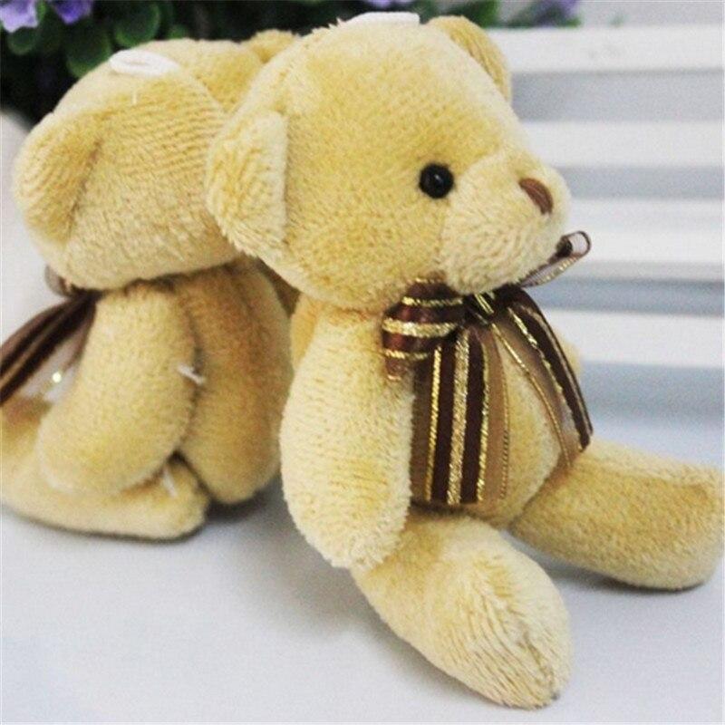 1pc 12cm Stuffed Plush Patch Bear Dolls Teddy Bear Soft Toy Bear Wedding Gifts Baby Toy Birthday Gift Brinquedos Soft Toys