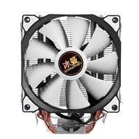 Boneco de neve 4 pinos cpu cooler 6 heatpipe único/duplo ventilador refrigeração 12 cm ventilador lga775 1151 115x1366 suporte intel amd