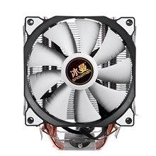 Enfriador de CPU de 4 pines de muñeco de nieve, 6 tubos de calor, ventilador de refrigeración individual/doble de 12 cm, ventilador LGA775 1151 115x1366 compatible con Intel AMD