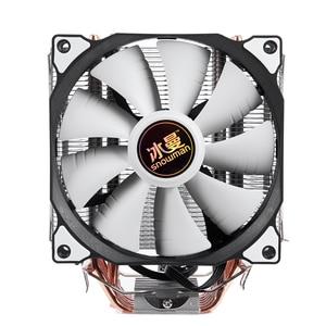 SNOWMAN 4 PIN CPU cooler 6 heatpipe Single/Double fan cooling 12 cm fan LGA775 1151 115x 1366 support Intel AMD(China)