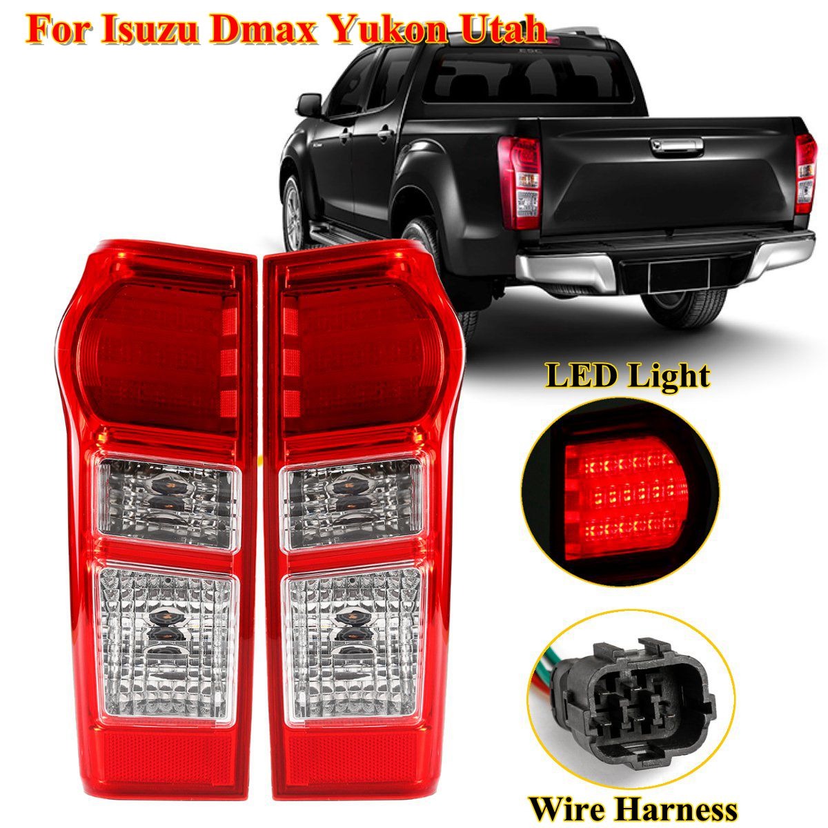 FIT FOR ISUZU DMAX D-MAX PICKUP 2012-2015 NO LED PAIR TAIL LIGHTS NORMAL TYPE