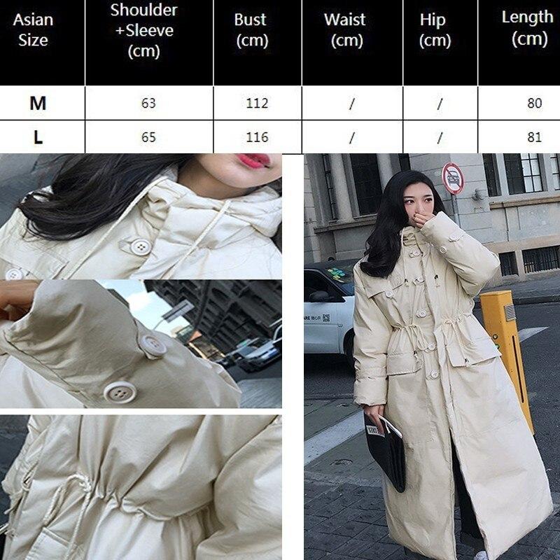 eabdec5da90 2019 Oversized Parka Female Puffer Jacket Women Winter Coat Long Cotton  Padded Korea Plus Size Loose Outwear Snow Wear Oke136-in Parkas from Women s  ...