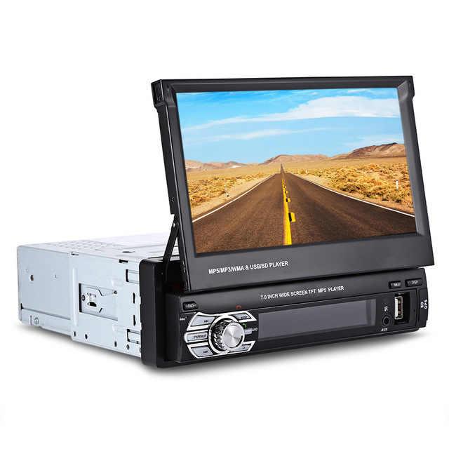 Universal 9601G 1 DIN Car มัลติมีเดียเครื่องเสียงรถยนต์วิทยุ FM สเตอริโอ GPS Navigation Bluetooth 1Din 7 นิ้ว autoradio