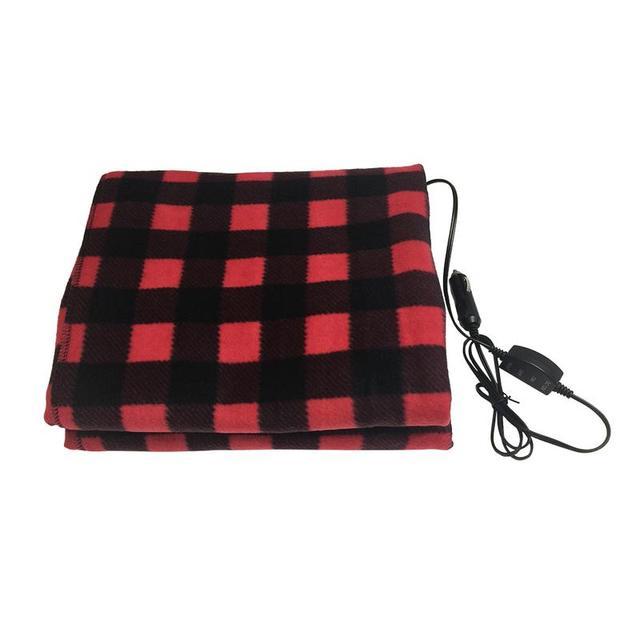145*100cm Lattice Energy Saving Warm 12v Car Heating Blanket Autumn And Winter Electric Blanket Car Accessories
