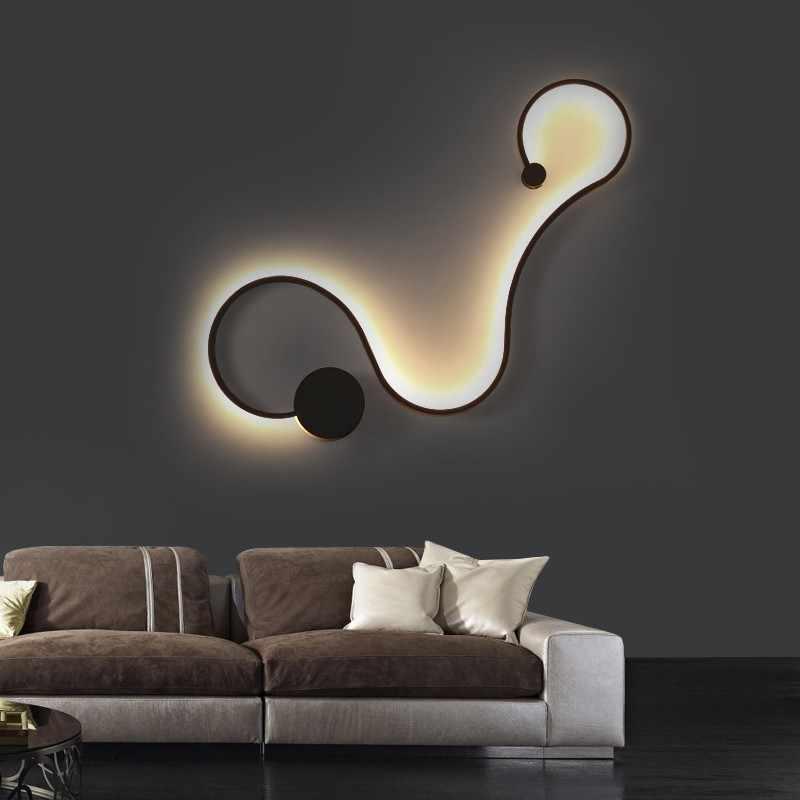 Современные настенные лампы для спальни кабинет гостиная балкон акриловые фонари домашний деко в белый черный железобетон светодиодные светильники прохода