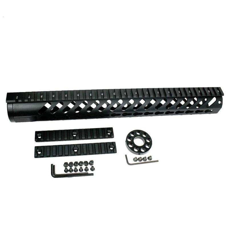 15 pouces En Aluminium Keymod Handguard Picatinny Rail Noir accessoires de chasse