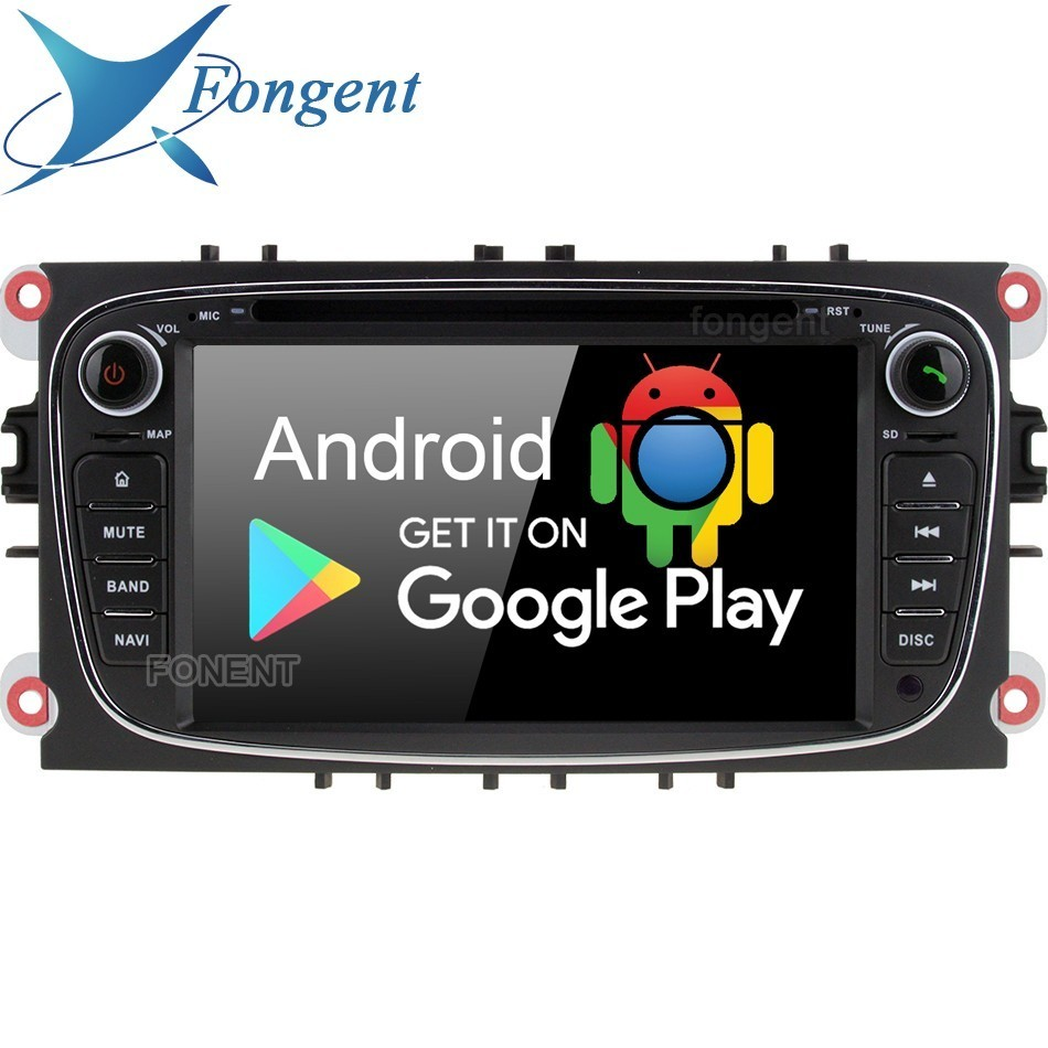 Android 9.0 jogador Do Carro Din DVD Player GPS RDS 2 Rádio Para Ford Mondeo Focus C-MAX Galaxy Tourneo Trânsito S- max Kuga multimidia 4 Gb + 64 Gb