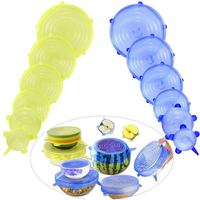 Silicone Food Lid  12 Pcs Stretch Reusable Lids Expandable Silicone Storage Lid