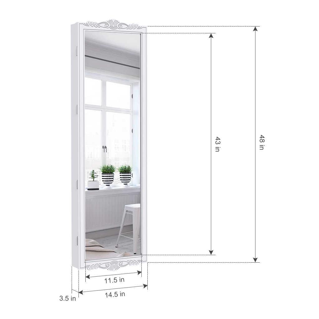 LANGRIA полный Длина закрываемая настенная настенный over-the-дверной висячие украшения шкаф с светодиодный свет 3 регулируемая высота