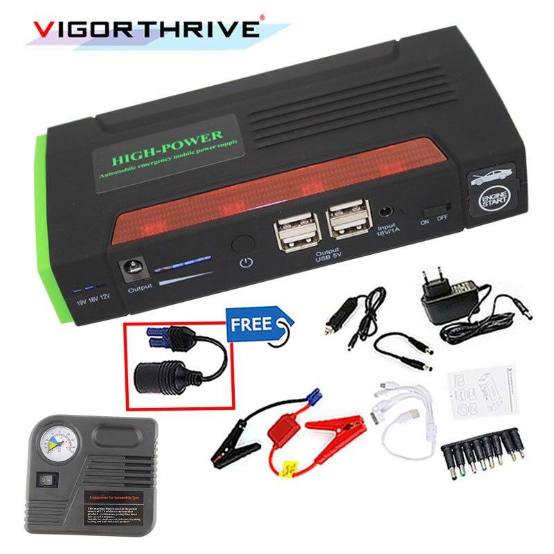 Multi Функция скачок стартер Портативный 68800 мАч 4 USB Автомобильное Питание Перезаряжаемые Мощность банк ABS высокой Мощность Батарея аксессуар - 3