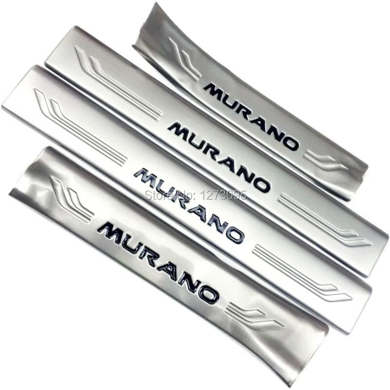 Pour 2015 2016 2017 Nissan Murano Z52 intérieur en acier inoxydable seuil de porte plaque de seuil coup de pied pédale étape couverture protège-garniture accessoire de voiture
