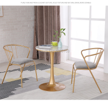 2019 Brand New luxury Golden Dining metal chair chairs dining room modern  nordic furniture