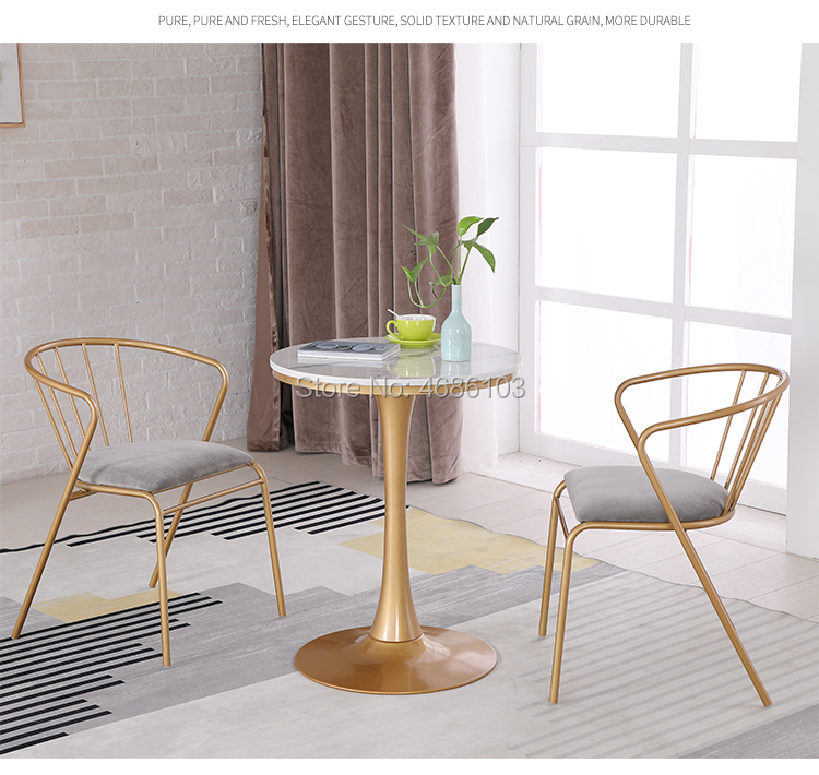 2019 Brand New Luxury Golden Dining Metal Chair Chairs Dining Room Modern Nordic Furniture Chairs Modern Furniture