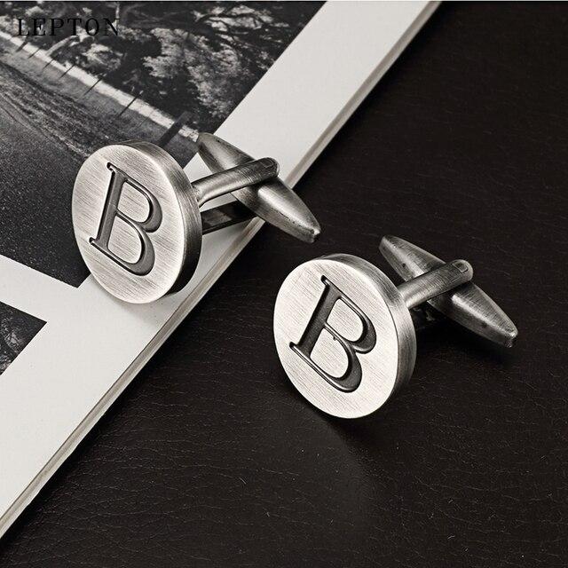 Фото запонки lepton в с буквами алфавита для мужчин классические цена