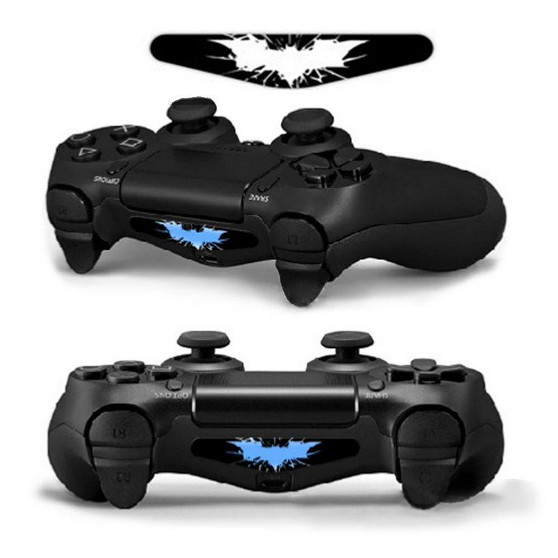 2 Pcs LED Light Bar Decal Sticker For PS4 Designer Controller Vinyl Stickers For PS4 Radar Bat Logo Stickers Gaming Accessory #2