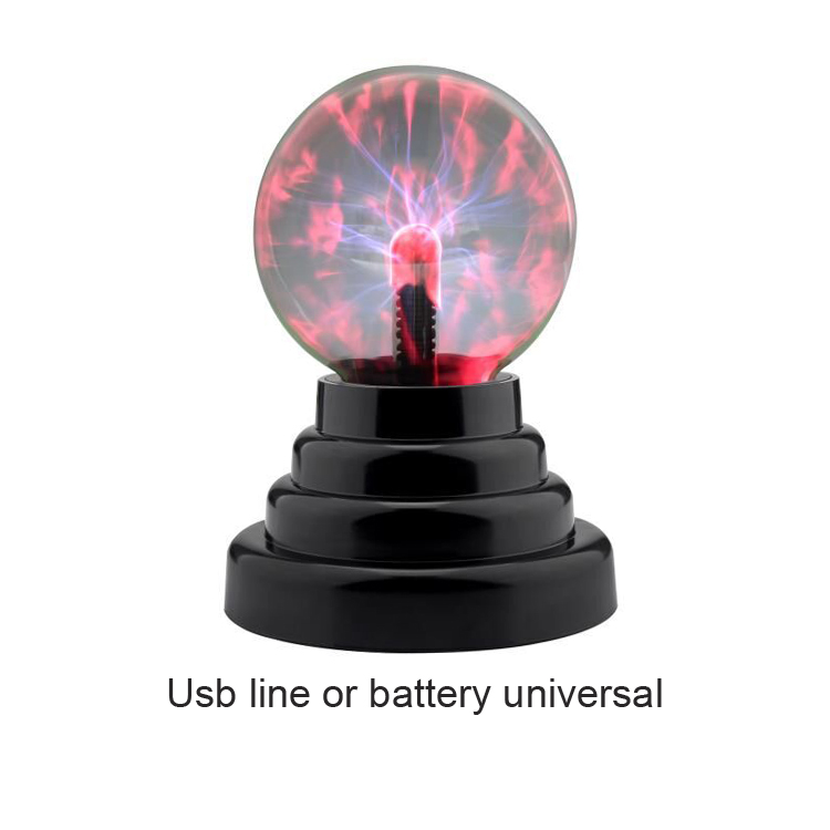 Plasma Ball Novelty Lighting Hot Sell USB 5V Magic Black Base Glass Plasma Ball Sphere With Free Usb Cable Party Lamp Lightning