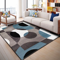 Nordic Geometric Carpets Living Room Bedroom Study Bedside Carpet Rectangle Modern Decor Rug Household Sofa Yoga 3D Blanket Mat