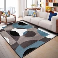 Nordic Geometric Carpets Living Room Bedroom Study Bedside Carpet Rectangle Modern Decor Rug Household Sofa Yoga 3D Blanket Mat