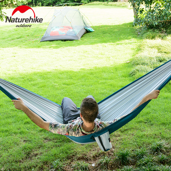 Naturehike 1-2 Persons Ultralight Single Double Camping Hammock Outdoor Hammock Swings Hanging Tent Portable Sleeping Bed 4