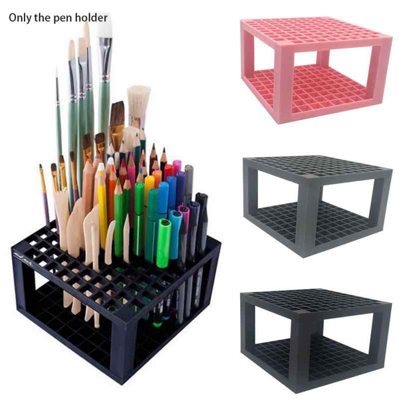 NEW HOT SALES Markers Artist Detachable 96 Hole Pencil Holder Organizer Brush Multifunction 14.5*9cm
