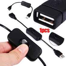 New USB Power Cable Switch Male to Female Extension Power Cable with 303 Button Switch For Power Supply