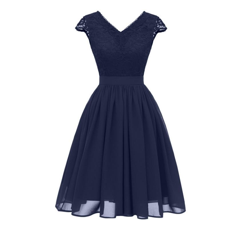 702d4a1455 MUXU vestidos blue lace chiffon dress women clothing kleider sukienka  fashion elegant party frocks woman clothes