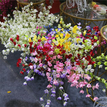 50pcs Fake Bell Flowers (2 stems/piece) Simulation Campanula Orchid Lily of the valley Flower for Wedding centerpieces