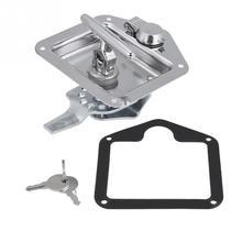 Нержавеющая сталь складной Т-образная ручка замок ящик для инструментов набор ключей для грузовика трейлер Toolbox Электрический шкаф