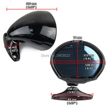 Vintage Style Universal Car Classic Retro Door Wing Side Mirror Rearview Black L+R