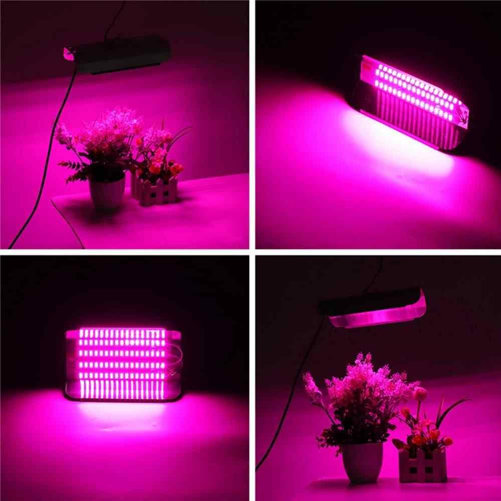 50 W 100 W LED Phyto las luces de inundación con enchufe de la UE de espectro completo LED de alta potencia luz hidropónica de la siembra 220 V IP65 impermeable