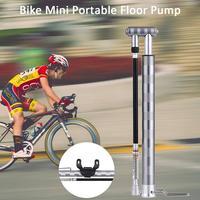 Bike Pump Portable Mini Bicycle Floor Pump 160 PSI Aluminum Alloy Tire Pump Inflator with Pressure Gauge and Deflation Valve