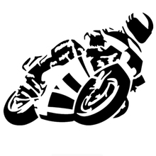 15 * 20cm Biker Aboard Car Sticker Funny Auto Stickers Vinyl Decor Decals