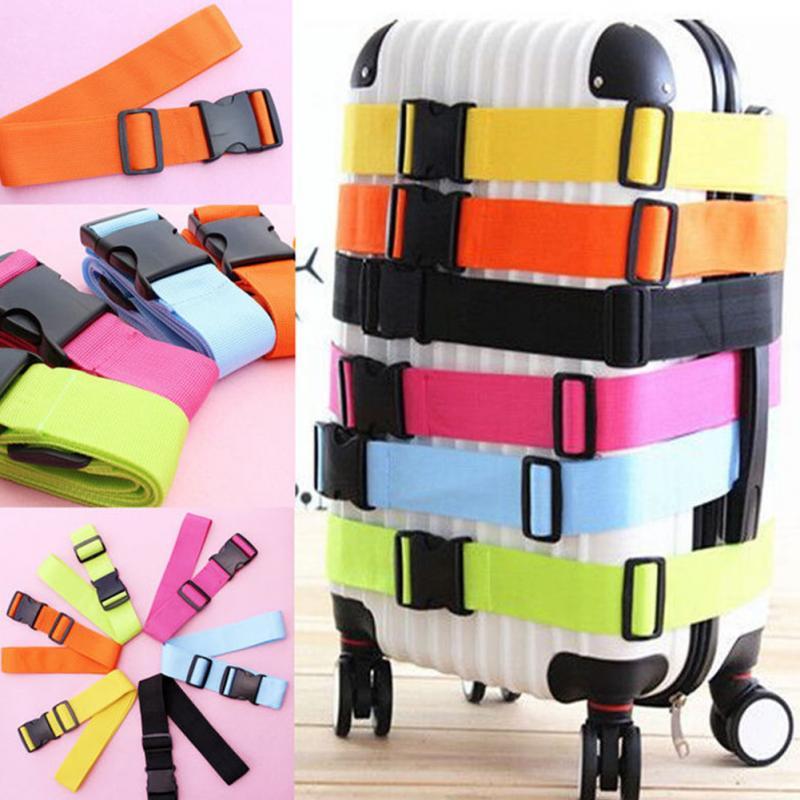 8 Farben Einstellbare Gepäck Band Nylon Gürtel Kreuz Verpackung Reise Koffer Schutzhülle Gepäck Gürtel Schnalle Für Reise #20