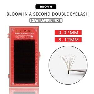 Image 1 - 2019 cílios magnéticos brown b/c 1sec ventilador automático cílios volume rápido cílios extensões vison cílios auto fanning blooming lash