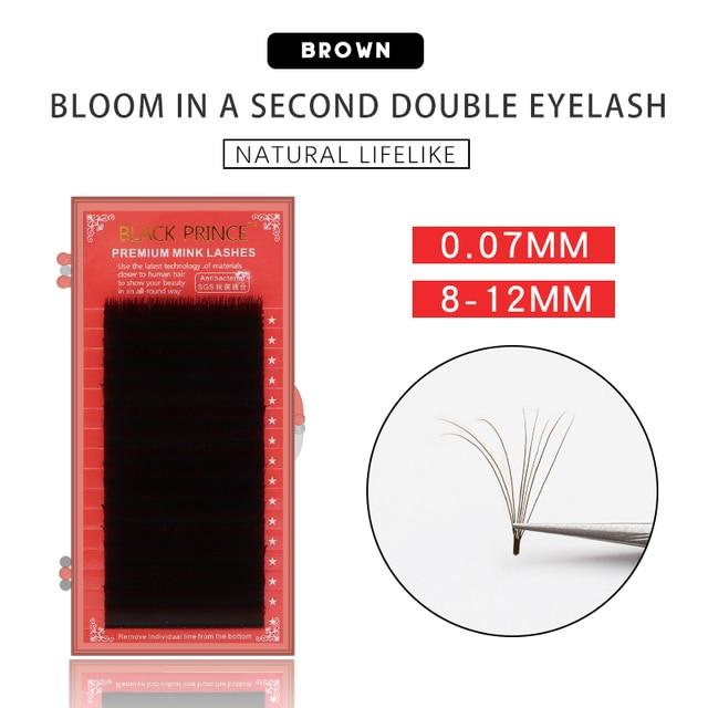 2019 cílios magnéticos brown b/c 1sec ventilador automático cílios volume rápido cílios extensões vison cílios auto fanning blooming lash