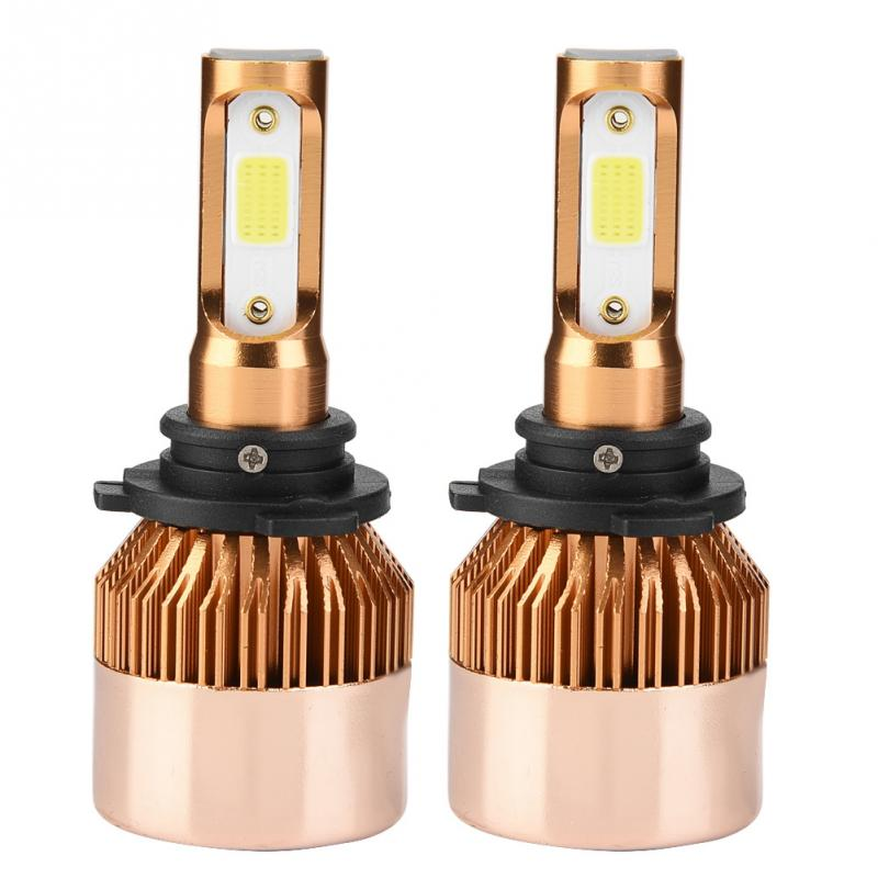 1pair Of 9006 Led 36w 8000lm Headlight Car Hi/lo Beam Auto Bulbs 6000k Car Led Headlight Bulbs Car Light Auto Accessories Rapid Heat Dissipation Car Headlight Bulbs(led)