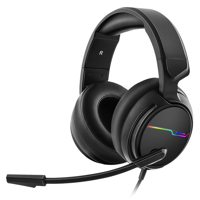 Xiberia V20U <font><b>Pc</b></font> Gamer Headset Usb 7.1 Surround Sound Gaming Kopfhörer Mit Mikrofon image