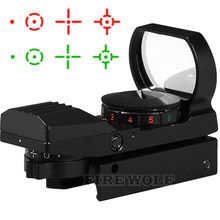 Hot 20mm / 11mm Rail Riflescope Hunting Optics Holographic Red Dot Sight Reflex 4 Reticle Tactical Scope Hunting Gun Accessories(China)