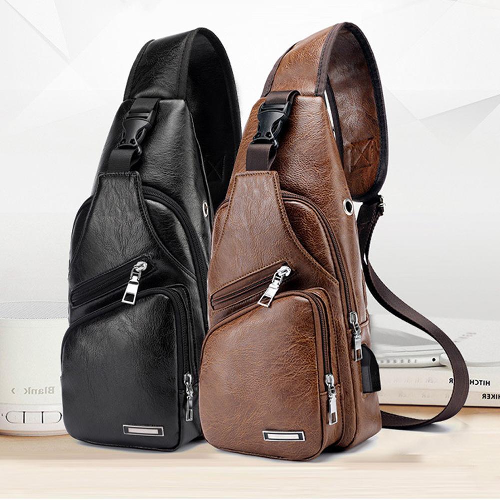 Luggage & Bags Male Shoulder Bags Usb Charging Crossbody Bags Sports Canvas Outdoor Oblique Cross Messenger Bag Men Anti Theft Chest Bag Men's Bags