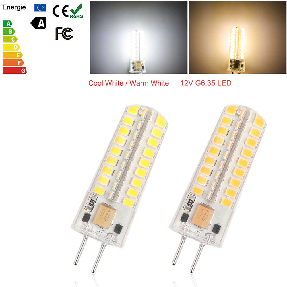 12V G6.35 72-LED Bulb Light 7W SMD2835 Silicon Warm White Equivalent To 60W Halogen Lamp For Home Lighting
