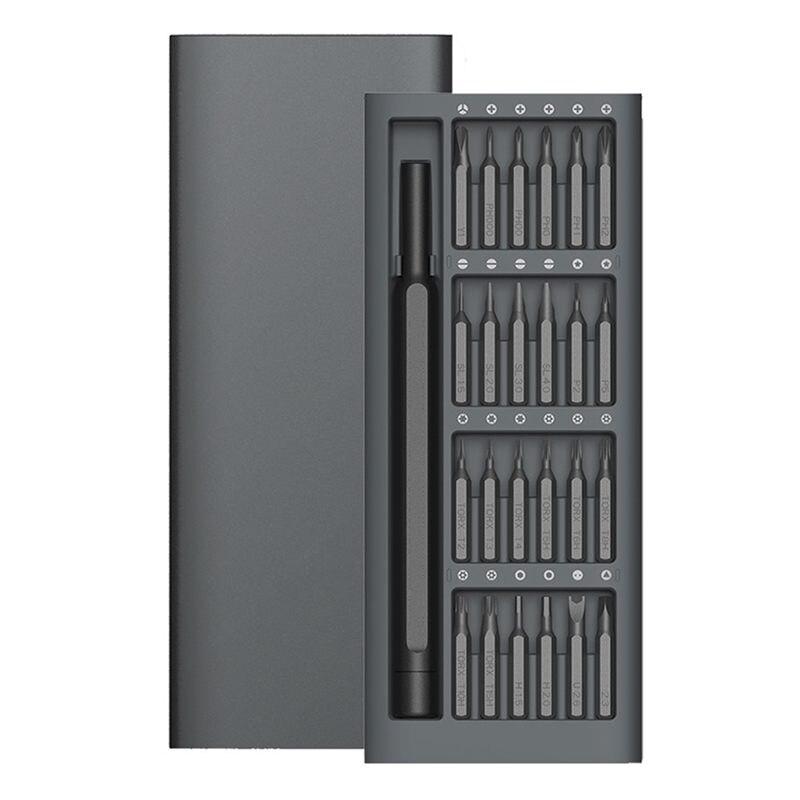 New Wiha Daily Use Kit 24 Precision Magnetic Bits Aluminum Box Diy Screw Driver Smart Home Set