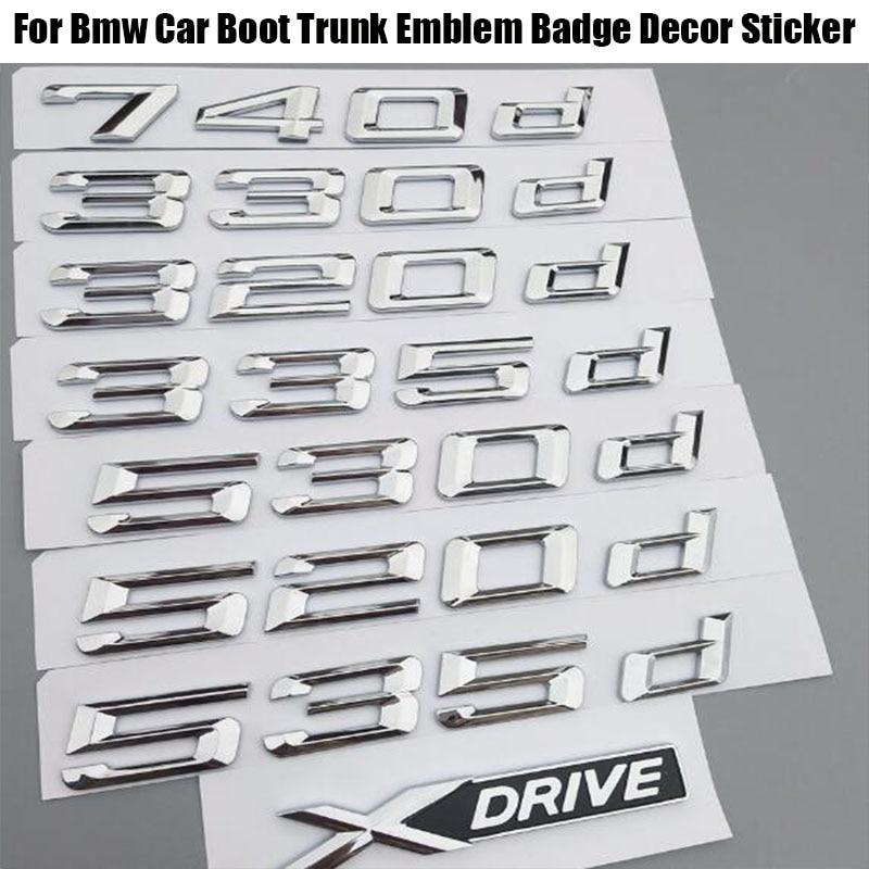 Top Auto Car Emblem Decalque Emblema Etiqueta Para BMW 3/5/7 Série 318d 320d 325d 328d 330d 335d 520d 525d 523d 730d 740d 750d Xdrive