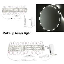 60 LED Makeup Mirror Lights Touch Dimmable Cosmetic Lighted Vanity Bulb Lamp Adjustable Make up Mirrors Brightness lights цена 2017