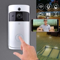 1Set HD Real time Video Doorbell Wireless 720P Security Camera Two Way Talk Night Version Wifi Intercom Doorbell